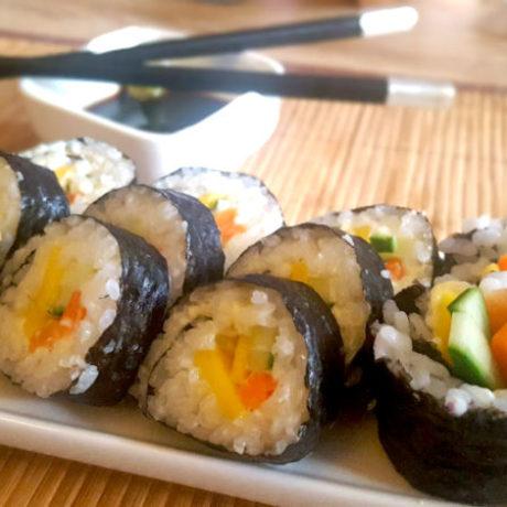 Två sorters sushi (maki)